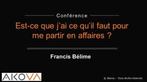 conférence partir en affaires Québec